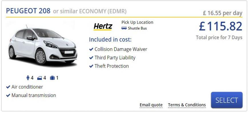 Rental Car Example